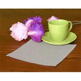 Napkin Aida 20x20 cm (0,65x0,65 ft) grey