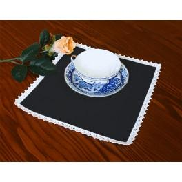 Napkin Aida 20x20 cm (0,65x0,65 ft) black
