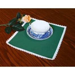 Napkin Aida 20x20 cm (0,65x0,65 ft) green