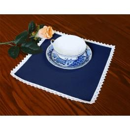 Napkin Aida 20x20 cm (0,65x0,65 ft) navy blue