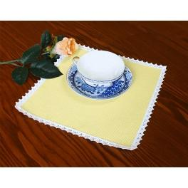 Napkin Aida 20x20 cm (0,65x0,65 ft) yellow