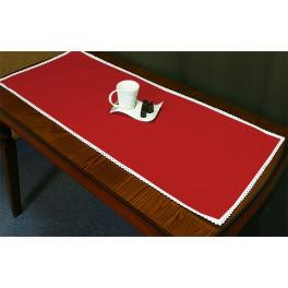 Runner Aida 45x110 cm (1,5x3,6 ft) red