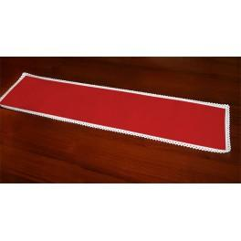 Runner Aida 117x21 cm red