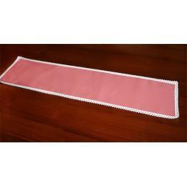 Runner Aida 117x21 cm salmon pink