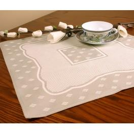 Napkin Land with Aida insert 42x42 cm natural