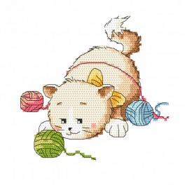Cross stitch set - Cat pranks