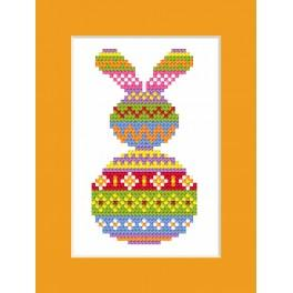 Cross stitch kit - Card - Colourful hare