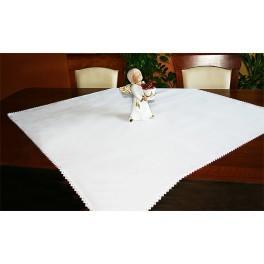 984-01 Tablecloth Aida 90x90 cm white