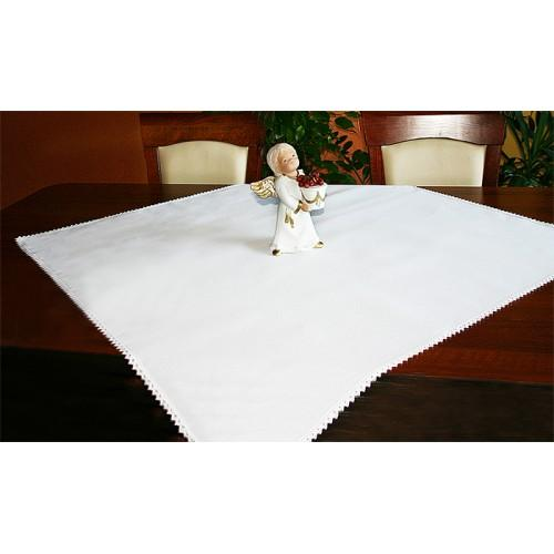 Tablecloth Aida 90x90 cm white