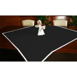 Tablecloth Aida 90x90 cm black