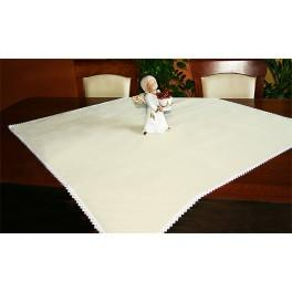 Tablecloth Aida 90x90 cm ecru