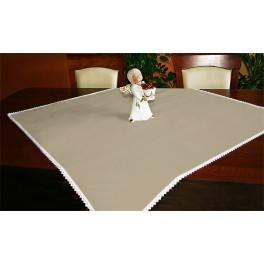 Tablecloth Aida 90x90 cm cappuccino
