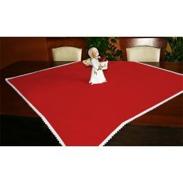 Tablecloth Aida 90x90 cm red
