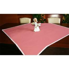Tablecloth Aida 90x90 cm salmon pink