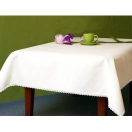 Tablecloth Aida 110x160 cm (1,2x1,7 yd) white