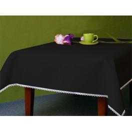 Tablecloth Aida 110x160 cm (1,2x1,7 yd) black