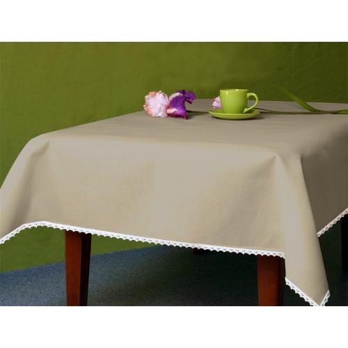 Tablecloth Aida 110x160 cm (1,2x1,7 yd) cappuccino