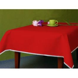 Tablecloth Aida 110x160 cm (1,2x1,7 yd) red