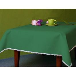 Tablecloth Aida 110x160 cm (1,2x1,7 yd) green