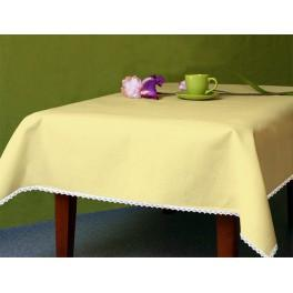 Tablecloth Aida 110x160 cm (1,2x1,7 yd) yellow