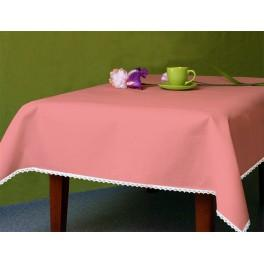 Tablecloth Aida 110x160 cm (1,2x1,7 yd) salmon pink