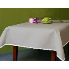 Tablecloth Aida 110x160 cm (1,2x1,7 yd) grey