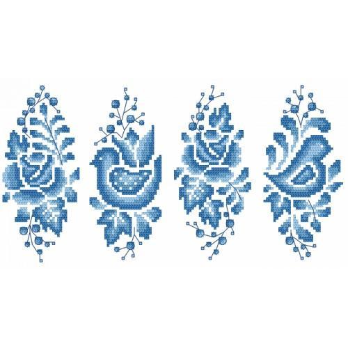 W 8896 Pattern online - Porcelain Easter egg