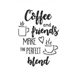 Cross stitch set - Coffee and friends