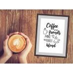 Cross stitch set - Coffee and friends