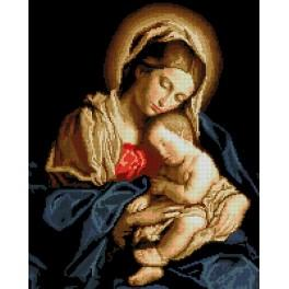 6089 Tapestry canvas - Madonna and child