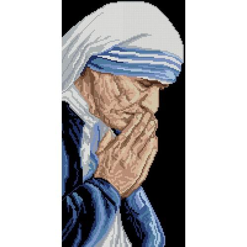 Cross Stitch pattern - Mother Teresa of Calcuta