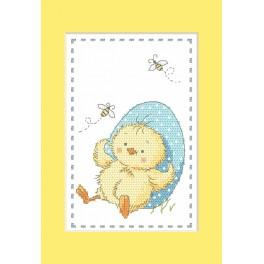 Cross Stitch pattern - Card - Chick