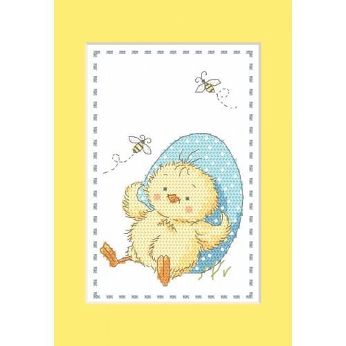 Cross Stitch pattern - Card - Chick