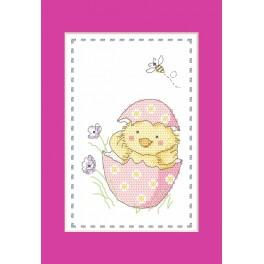 Cross stitch pattern - Card - Duckling
