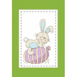 Cross stitch kit - Card - Hare