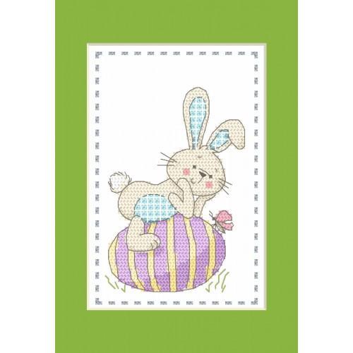 Cross stitch kit - Card - Hare
