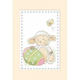Cross Stitch pattern - Card - Lamb