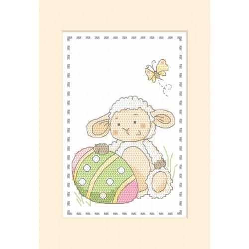 Cross stitch kit - Card - Lamb