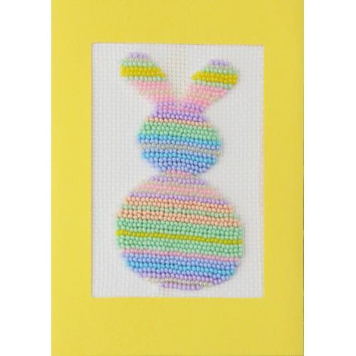 ZUK 8893 Kit with beads - Card - Pastel hare