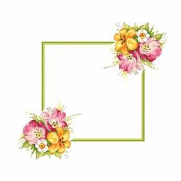 Pattern online - Napkin with a spring bouquet