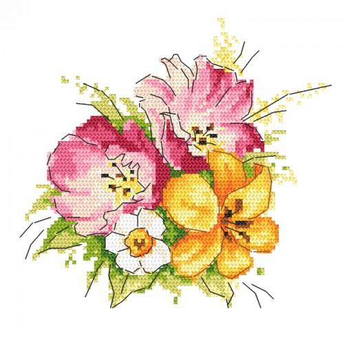 Cross stitch set - Spring bouquet