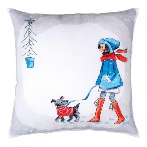 Cross stitch set - Cushion - Winter walk