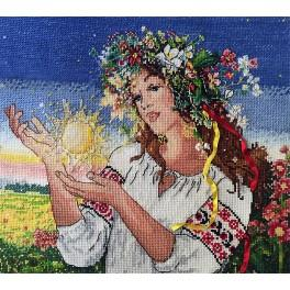 Cross stitch kit with mouline and beads - Dawn