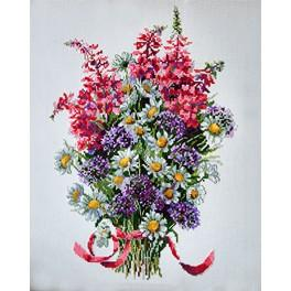 Cross stitch kit - The field bouquet