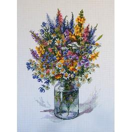 Cross stitch set - The thistle bouquet