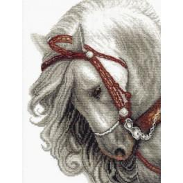 Cross stitch kit - Grey horse