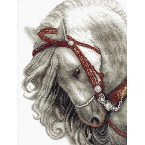 Cross stitch set - Grey horse