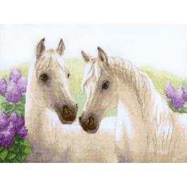 Cross stitch kit - Dawn amid the lilacs