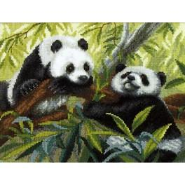 Cross stitch set - Pandas