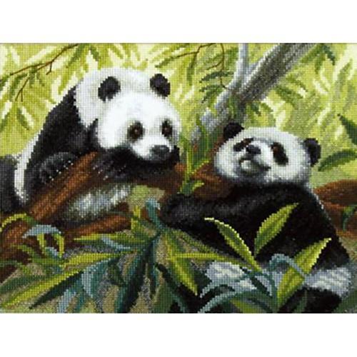 Cross stitch set - Pandas